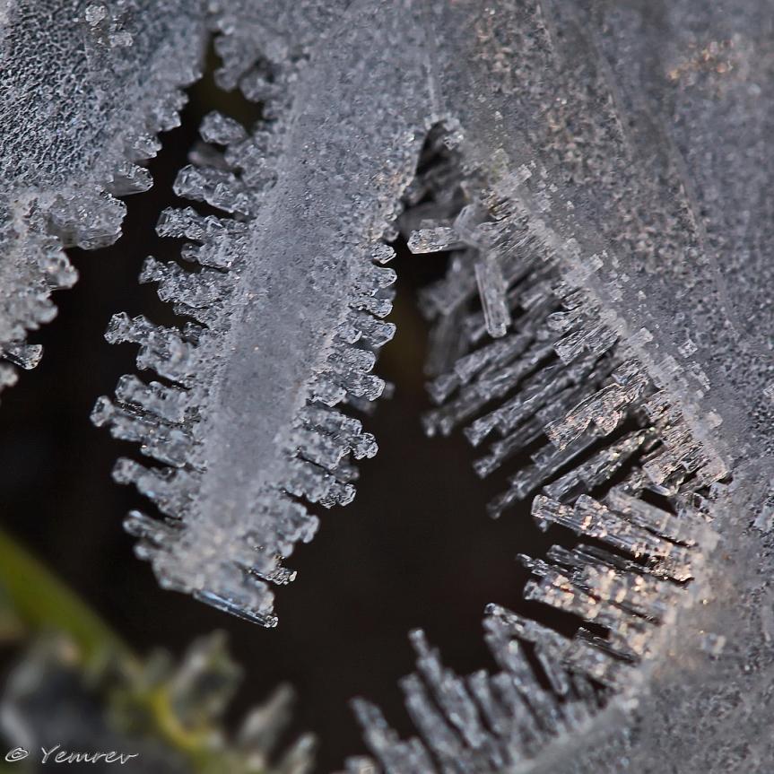 Geode met ijskristallen