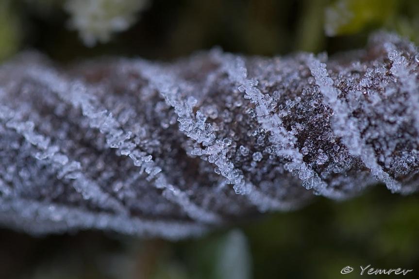 Spiraal van ijskristallen