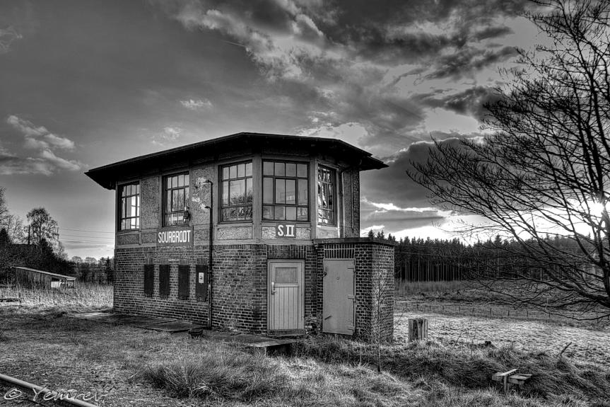 Seinhuis S2 in zwart-wit