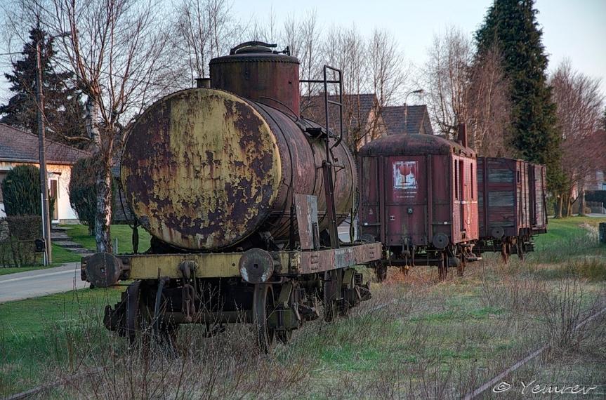 Goederenwagon op station Sourbrodt