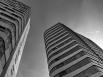 Parktoren en Rijntoren, zwartwit