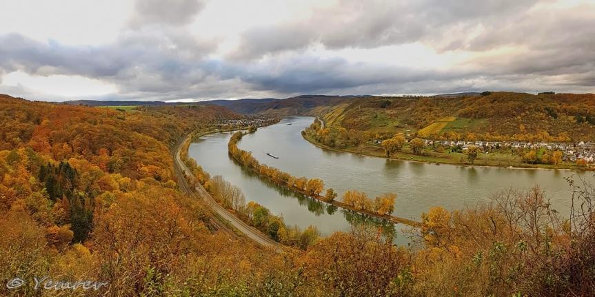 Rhein, bocht bij Spay